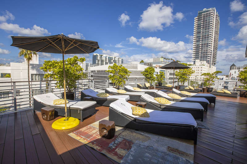 Riviera Rooftop with Umbrellas View